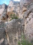 Rock Climbing Photo: Follow the corner and black streak to the steep, d...