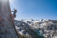 Rock Climbing Photo: an early spring ascent