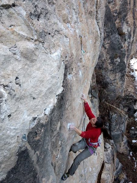 Alison on Watt Rod, 5.12a