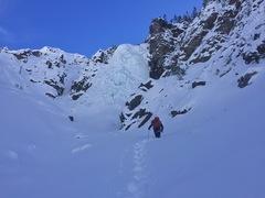 Approach to Burns Gulch climb.