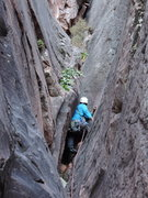 Rock Climbing Photo: Kyle Willis on the FA, first pitch