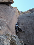 Rock Climbing Photo: Sam Boyces on the FA, third pitch
