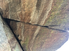 The crack seen from the belay spot.