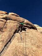 Paralyzed aid lead climb of Right V Crack. 1st Paralyzed lead climb of Right V Crack