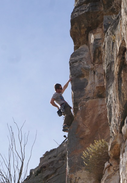 Cory on the second ascent.