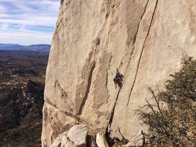 Ben from the Gunks climbing Twin Cracks