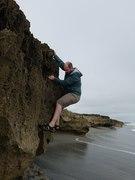 Steve climbing at Blowing Rock Preserve