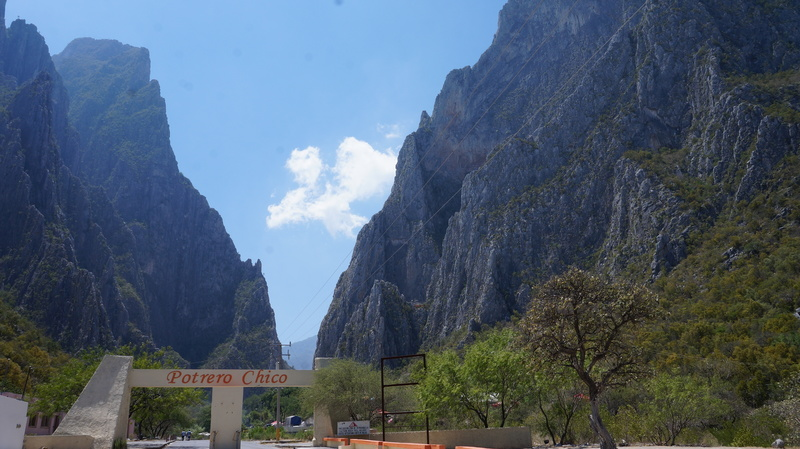 El Potrero Chico Park Entrance
