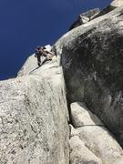 Rock Climbing Photo: Sam on coffin nail