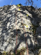 Rock Climbing Photo: Serpentine Crack three bolts to a pair of chains.