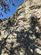 Rock Climbing Photo: Three bolts to two chains.