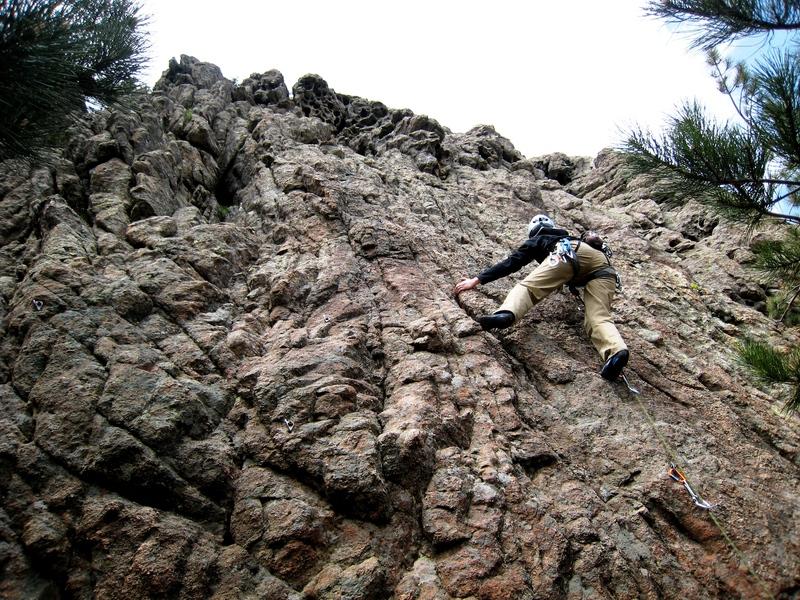 Climbing at La Tarella at the Col de Bavella