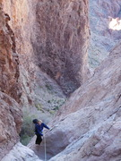 Looking down the upper portion of the rock climbing section.