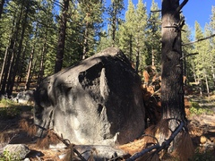 Rock Climbing Photo: Lower boulder. The crack and left facing thing are...
