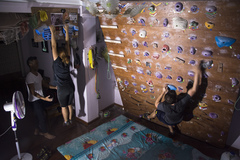 Rock Climbing Photo: One of the early climb nights hosted by Myanmar Ro...