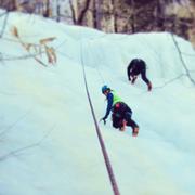 Rock Climbing Photo: Ice climbing in New Hampshire
