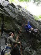 Lauren on the steep start of Blue Steel