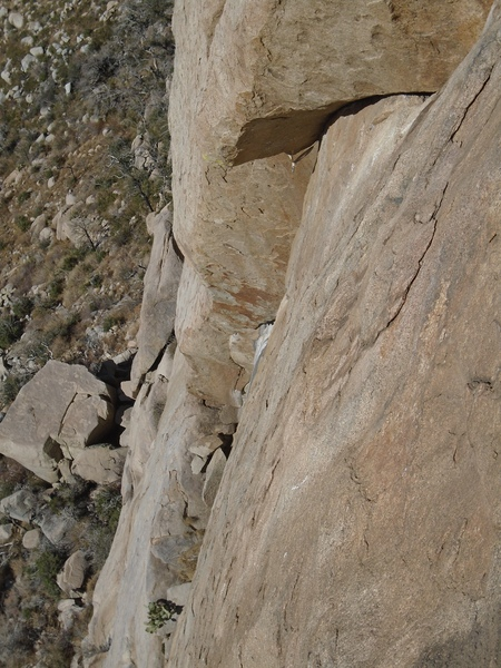 Crux pitch from above