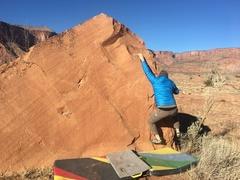 Rock Climbing Photo: Near the start of the problem.