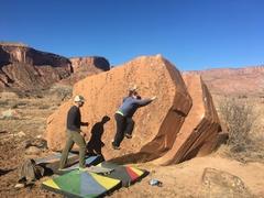 Rock Climbing Photo: Lela moving on up.