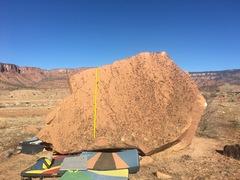 Rock Climbing Photo: Beta for Lemon Squeezy.