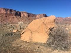 Rock Climbing Photo: Southwest side of the Interchange Boulder.