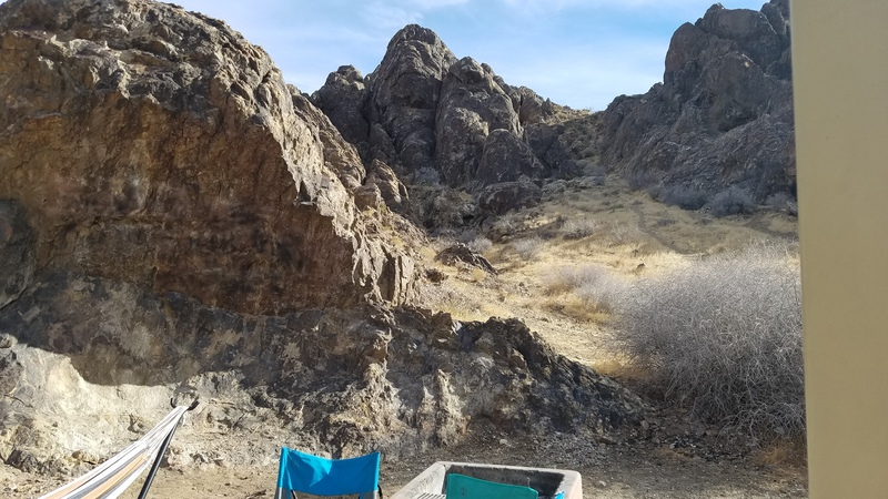 View of the Corner Crag from campsite 12.