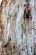 Rock Climbing Photo: heading into the crux