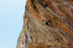 Rock Climbing Photo: decent rest in the hole below my right foot. Wildl...