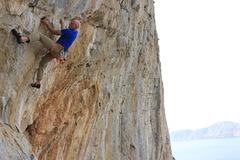 Rock Climbing Photo: Dan the man on his project