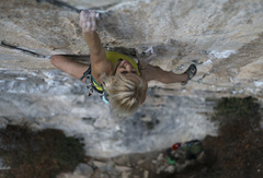 Brittany Goris on the rig <br />Photo: Ben Crawford