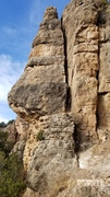 Rock Climbing Photo: Stair Master on the pillar to the left of Will Pur...