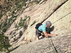 Rock Climbing Photo: Topping out Debut