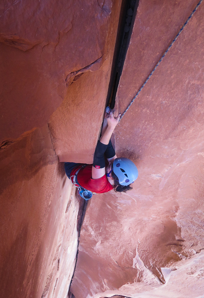 Sierra exiting the pod before the traverse.