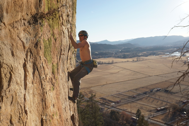 Adam Ferro on the second ascent of The Love Movement.<br> <br> Photo: Bryant Aucoin.