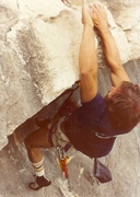 Rock Climbing Photo: Attempt to free the big roof in Wilton, Missouri