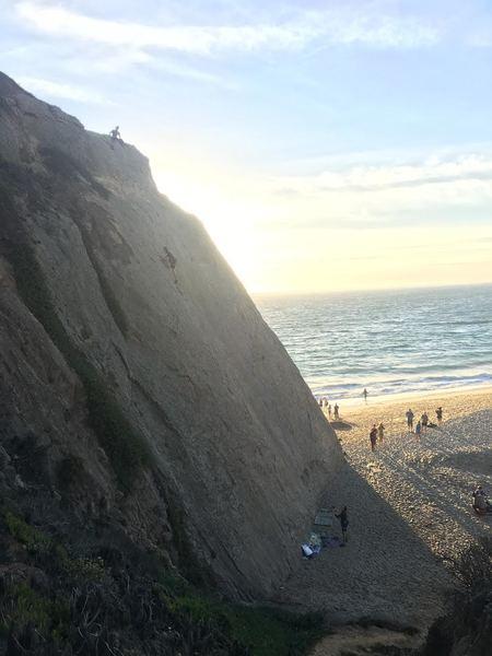 left center at sunset