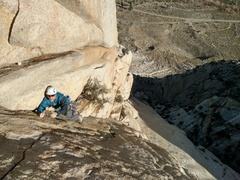 Rock Climbing Photo: This is the original and now alternate pitch 4.  I...