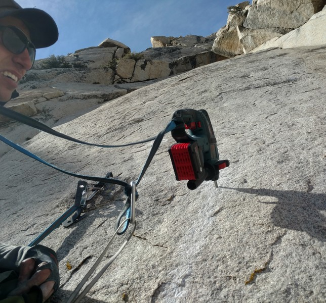 Working up the slab. The whole route was done ground up to avoid contriving things.