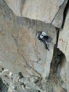 Rock Climbing Photo: Looking down at pitch 9.  Be weary of the sharp ed...