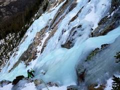 """""""Second ascent of """"Electric Avenue"""" , Grade WI3+, 900 feet"""""""