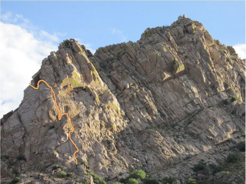 Pitches 1-3. Finish on the West Face route
