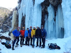 Rock Climbing Photo: Advanced ice clinic with Conrad Anker, Ouray.