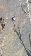 Rock Climbing Photo: Kyle just coming out of the business on Ruby Red S...