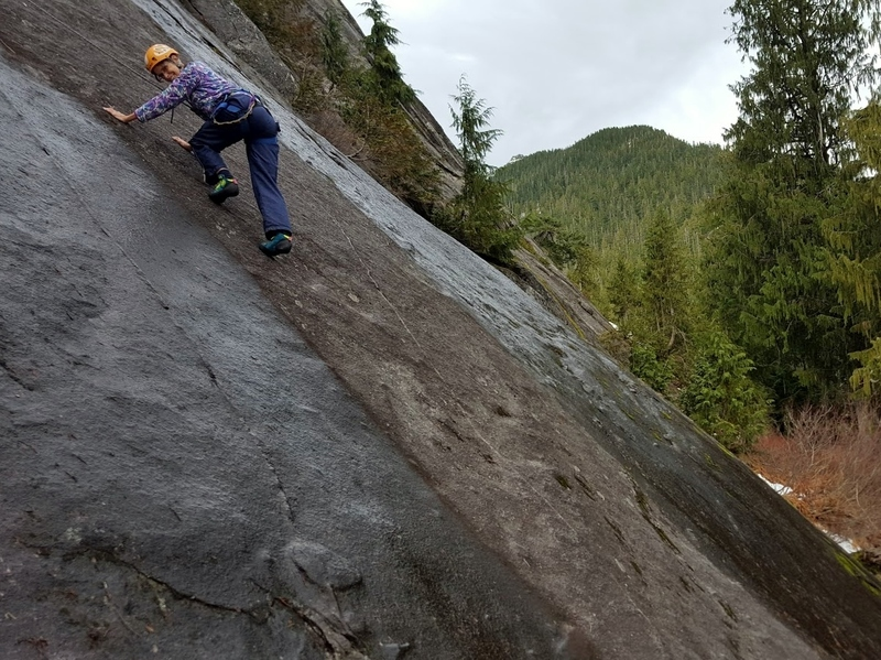 Cathy finding the dry line on Tidbits pitch 1.