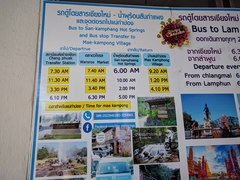1/22/2018 chiang mai to crazy horse bus schedule from chang phueak bus terminal 500 feet north of the north gate. Go to hot springs but get off before there at crazy horse. Tell driver. 35baht $1USD.
