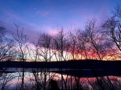 Sunset over Susquehanna River