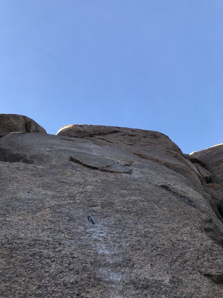 Looking up at the route from the first bolt.