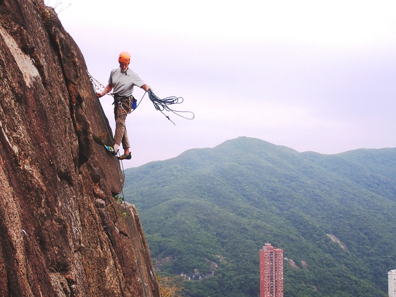 At the anchors Black Crag in Hong Kong