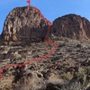 West chimney route...